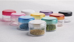 Wholesale 10 color cream jar cosmetic container High Quality plastic bottle makeup sample jar cosmetic packaging