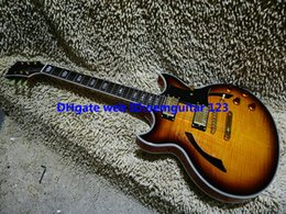 Custom Shop Flame top Hollow body Jazz Guitar New Arrival wholesale guitars top musical instruments