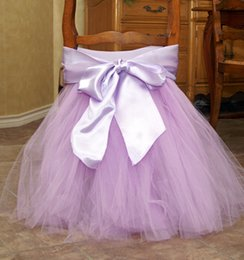 Wholesale 2015 Toto Chair Covers Light Purple Satin Tulle Cheap Modest Fashion New Arrive Sexy Chair Supplies Elegant Cheap Wedding Supplies New Sash
