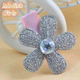 Wholesale 2015 Felt Shpe Glitter Felt Hair Clip Five Leaf Clover Design Hairpins Happiness Flower Hair Clip Fashion Flower Kids Accessories