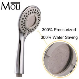 Wholesale High Pressure Water Saving Rain Shower Head Plastic Hand Held Shower Head In Bathroom
