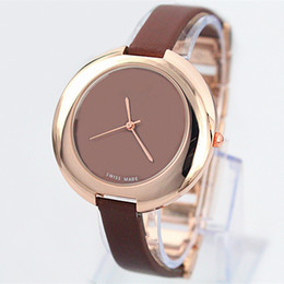 Fashion Women Leather Watch Top Brand Rose Gold luxury lady Wristwatch Japan movement rose gold Free Shipping Box