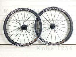 Wholesale ROVAI carbon wheels mm C Road bike carbon wheels clincher tubular bicycle wheels rapide matte carbon wheelset alloy brake
