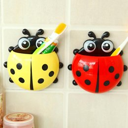Wholesale Lovely Cartoon Toothbrush Holder Coccinella Septempunctata Spot Lad Tooth Brush Holder for Kids Children