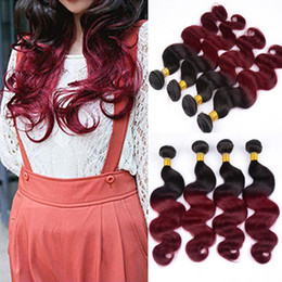 Malaysian Virgin Hair Body Wave Weave Beauty High Quality Ombre Hair Extension 1B Burgundy 3pcs Lot 100% Unprocessed Remy Human Hair Weaving