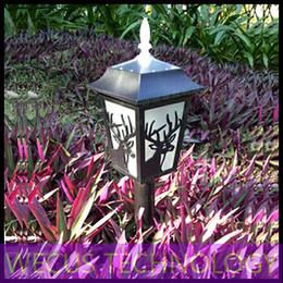 Al por mayor (WECUS) envío libre, villa en el jardín balcón jardín del paisaje iluminación decorativa, LED lámpara de césped solar al aire libre, los 50CM, XJ-HWD0034 desde wecus light fabricantes