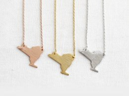 Wholesale 2015 USA Map Jewelry Real Gold Silver Plated PVD Stainless Steel I Love You NYork Houston Layering Necklace