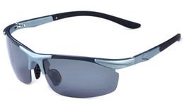 2pcs New Titanium Sunglasses Men Polarized Driving Sun Glasses Brand Designer Semi-Rimless Fashion Oculos Male Sunglasses TR90 High Quality
