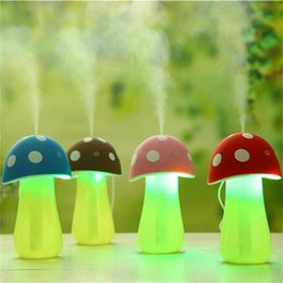 Wholesale 20PCS Cute Mini Mushroom Lamp Humidifier Aroma V USB LED Air Purifier Atomizer Diffuser for Home Room Health Care