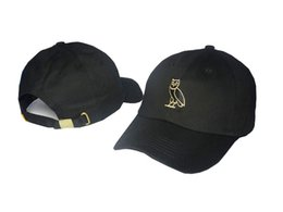 Wholesale 2016 Drake OVO CLASSIC GOLD OWL DENIM Black SNAPBACK Caps Casquette OVO CORE COLLECTION HATS STRAPBACK SPORT CAPS Baseball Cap