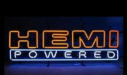 Wholesale Revolutionary Neon Christmas Gifts HEMI POWERED AUTHENTIC Neon Beer Signs v02 quot x15 quot Available multiple Sizes