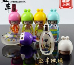 Wholesale Super cute doll glass kerosene lamp frosted glass translucent paragraph large capacity personality alcohol lamp glass bongs accessories f