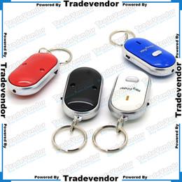 Wholesale LED Key Finder Locator Find Lost Keys Mobile Wallet Chain Mobile finder Purse Finder Keychain Whistle Sound Control