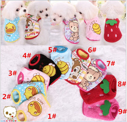 Wholesale 2016 New Teddy Bear Dog Yorkshire Dog Cat Puppy Pet Clothing pet Clothes Warm Coat Apparel Small Pet Dogs Cats Supplies Colors Retail