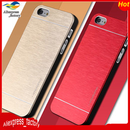 Wholesale Luxury Ultra thin Motomo Brush Aluminium Metal Slate Hard Case With Logo For iPhone S Plus Samsung Galaxy A3 A5 A7 A8 J5 J7 MOQ