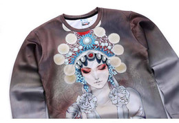 Wholesale Andy New designed men women d hoodies print Beijing opera Theater actor d sweatshirts national style hoodies tops