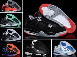 buy toro bravo basketball shoes - retro 4 bred White Cement toro bravo women men basketball shoes sneakers 2016 high cut shoes 5.5-13 sizes Good Quality Version
