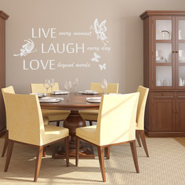 Live Laugh Love Vinyl Wall Quotes Stikers Butterfly Decal Inpirational Words for Room Decor