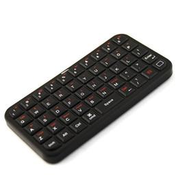 Caso de cuero del teclado del iphone en venta-Al por mayor-mini teclado inalámbrico Bluetooth con el caso de cuero Negro para iPhone 4 / 4S