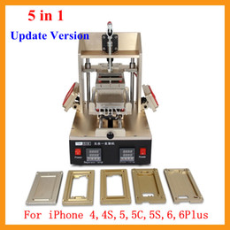 Updated Version 5 in 1 Multifunction LCD Refurbish Machine Middle Bezel Splitter+Vacuum LCD Separator+Glue Remover+Frame Laminator+Preheater