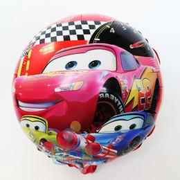 Wholesale hot x45cm Cartoon Happy Birthday mylar balloon Cars balloons foil Ballons for Party Supplies helium Ballon inch