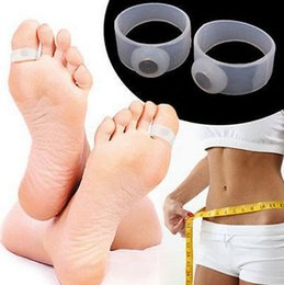 Wholesale Slimming Silicone Foot Massage Magnetic Toe Ring Machine Burning Foot Care Tool Fitness For Fat Weight Loss Health Care Easy Quick Factory