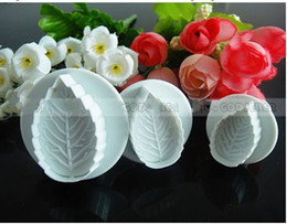 Diy cake baking biscuits tools mould triangle set pcs plastic rose leaves sugar cake spring mould