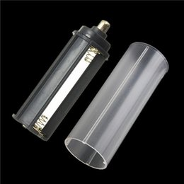 Hot sale 2 in 1 white casing 18650 battery sheath tube+ Plastic Battery Holder Case Box 3 AAA for Flashlight Torch Lamp order<$18no track