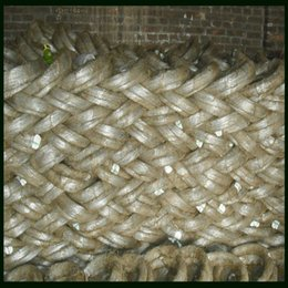 Wholesale Soft Electro Galvanized Binding Iron Wire With mm Diameter Plastic Inside and Gunny Bag Outside
