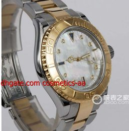 FACTORY SALES Luxury High Quality 18kt Gold S S Mother Of Pearl Diamond Sapphire 16623 Automatic 40MM