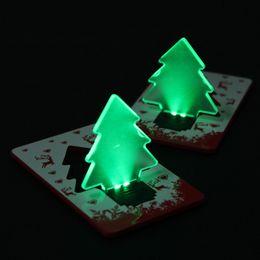 Portable LED Christmas Tree Folding Pocket Card Night Light Lamp Xmas Gifts