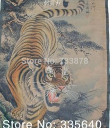Wholesale Feng Shui landscape painting murals antique calligraphy calligraphy tiger painting framed painting the room down the hall