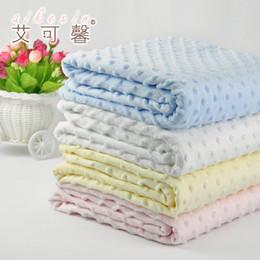 Размеры одеяло Онлайн-Детские Одеяла 100% Сотовый Хлопок Корзина Мягкие И Удобные Детские Одеяла Плюшевые Размер 75 х 100 см Оптовая Одеяло Одеяло Baby