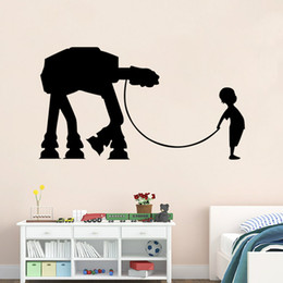 42*35.3cm Movie Star War Wall Stickers Decals Art for Baby Nursery Home Decoration WallPaper Kids Cartoon Poster DIY Home Decoration QT008