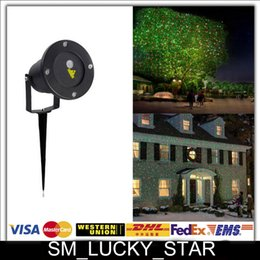 Wholesale Promotion Waterproof Outdoor Laser Firefly Stage Lights Landscape Red Green Projector Christmas Garden Sky Star Lawn Lamps Decorations