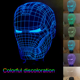 Wholesale New Star Wars Led Christmas Lights D Modern Lighting Iron Man Night Lights LED Light Cubes Led Color Changing Light Night Light Colorful