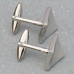 Wholesale Clip Tiles - FS Hot Stainless Steel Men Cuff Link CUFFLINKS Shirt Set Tile Silver order<$18no track