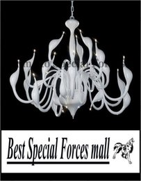 Wholesale Popular Artistic Swan Chandelier Modern Wrought Iron Pendant Lights with head