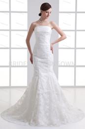 Spring  Fall Court Train Satin Zipper-back Mermaid Trumpet Wedding Dresses