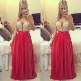 Fashion Red Beading Prom Dresses Sweetheart Pleats New A Line Hot Dress Party Evening Custom made