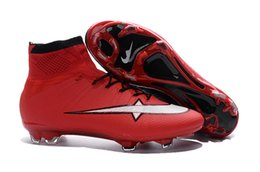 Wholesale red color World Cup Mens Breatheable Super Light FG Soccer Boots Athletic Soccer Shoes High Ankle Magista Football Cleats freeshipping