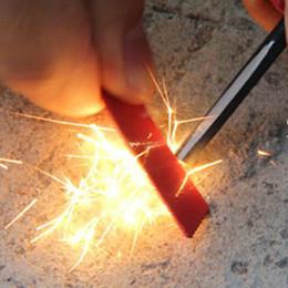 Wholesale 2pcs Self Lifesaving Flint Stones Portable Key Pattern Fire Sticks Outdoor Barbecue Picnics Necessity os163