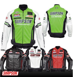 Wholesale NEW TOP quality PU Christmas Motorcycle bike Racing jacket jack M L XL XXL Hot sales expensive Simpson Cool color choose