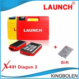Wholesale Newest Launch X431 Diagun Scanner Version Softwares Life time Free Update Multi languages add one more Battery as gift