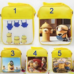 Wholesale 2015 New Movie minions cut yellow people Banana shoulder bag Orlando cartoon bags To find new owners Snack Handbags Despicable Me