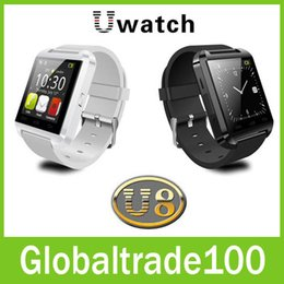 Wholesale U8 Smart Watch Bluetooth Wrist Watches Altimeter Smartwatch for Apple iPhone S Samsung S4 S5 Note Android HTC phones Smartphones Free DHL
