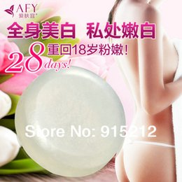 Wholesale Natural whitening enzyme crystals genitals whitening dilute areola eliminate odor handmade soap g