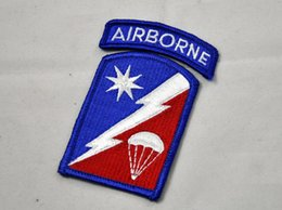 Wholesale Perfect version of the nd Airborne Brigade Support nd Sustainment Brigade color armband badges