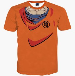 Wholesale 2016 New fashion harajuku Men t shirt funny print Dragon Ball Cosplay d t shirt animated slim summer tops tees t shirt
