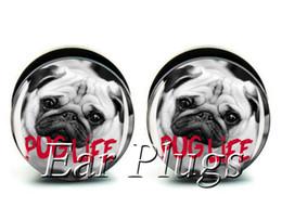 Wholesale ear gauges 60pcs bag pug life ear plug gauges tunnel ear expander ASP0511